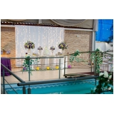 buffet para casamento ao ar livre preço Bairro dos Casas