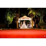buffet para casamento ao ar livre Vila Gonçalves