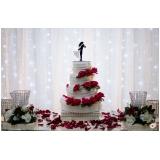 buffet para casamento com decoração Santa paula