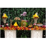 buffets para casamento a domicílio Capivari