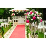 buffets para casamento ao ar livre Taboão