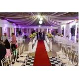 festa de casamento pequena