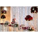 quanto custa buffet para casamento com decoração Taboão