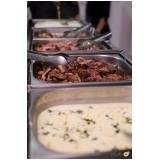 quanto custa buffet para casamento de churrasco Baeta Neves