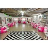 valores de espaço para festa de debutante Jardim Central